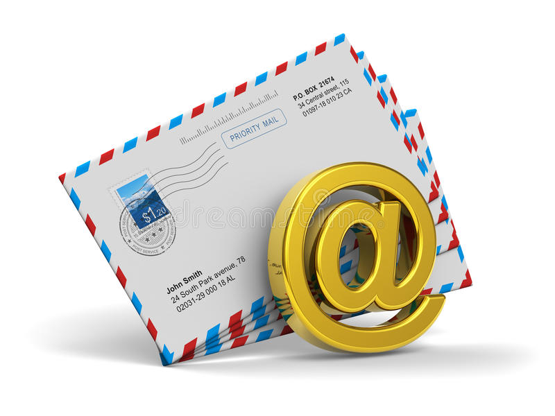 Download E-mail And Internet Messaging Concept Stock Illustration - Illustration of button, envelopes: 25633653