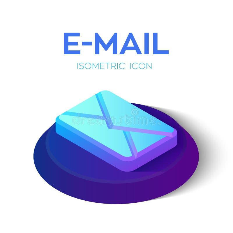 E-mail isometrisch pictogram 3D Isometrisch e-mailteken Gecreeerd voor Mobiel, Web, Decor, Drukproducten, Toepassing Perfectionee stock illustratie