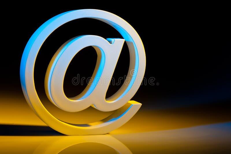 E-mail karakters. online mededeling. royalty-vrije stock afbeeldingen