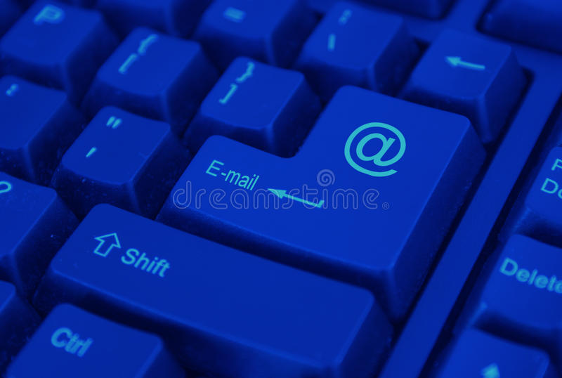 E-mail Knoop stock afbeelding