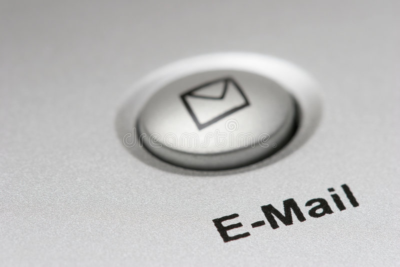E-mail knoop royalty-vrije stock fotografie