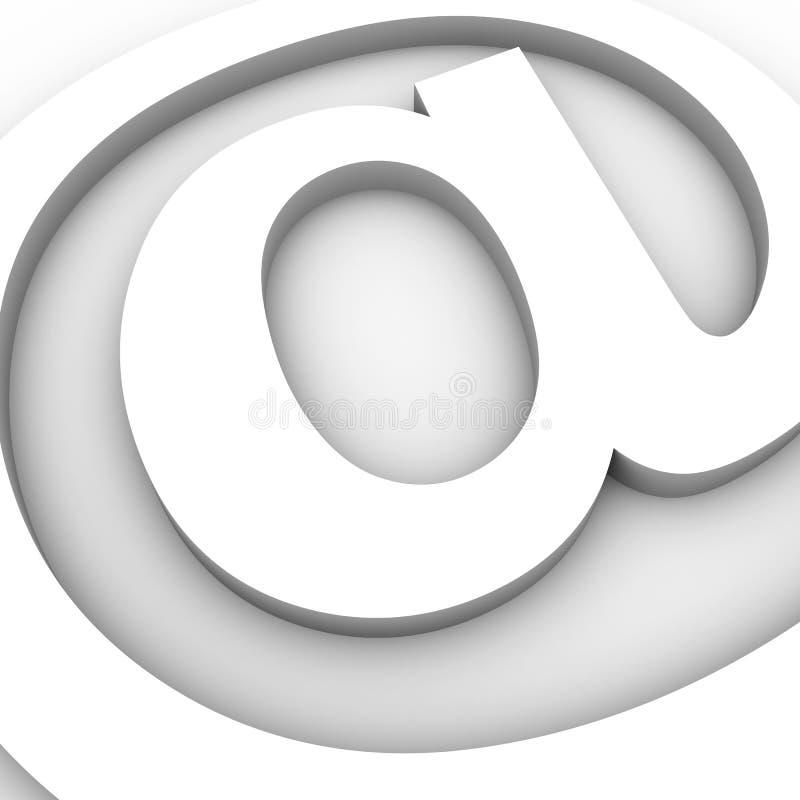 e - mail konceptualny znak