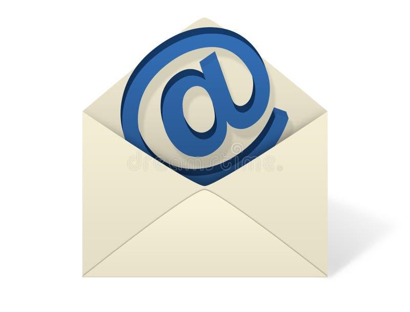 e - mail koperta białe tło ilustracja wektor