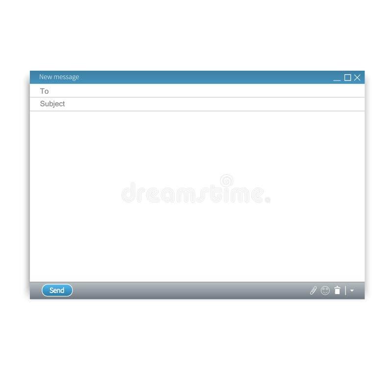 E-Mail-leere Schablone lizenzfreie abbildung