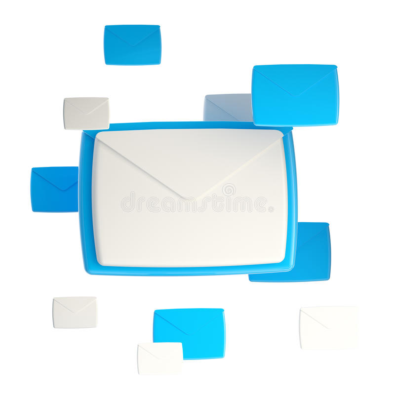 Download E-mail Letter Emblem Icon Isolated Stock Illustration - Illustration of computer, glossy: 25436312