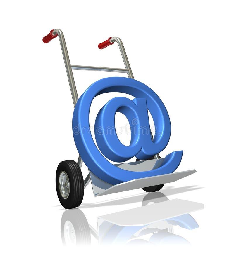 E-mail Levering stock illustratie