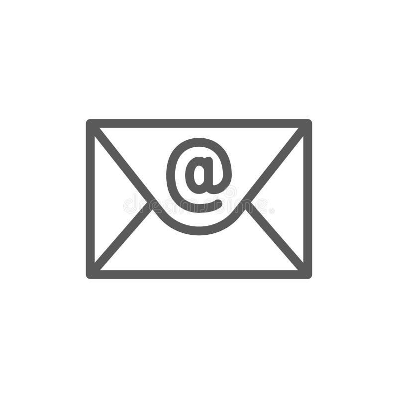 E-mail, linha de mensagem ícone do Internet ilustração stock