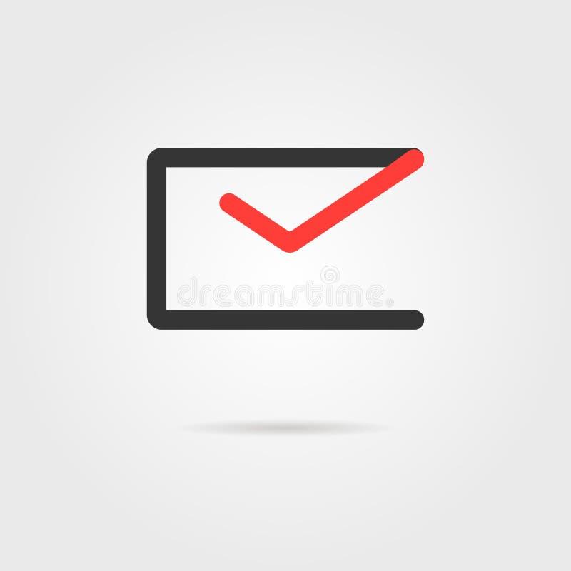E-mail logotype met schaduw stock illustratie