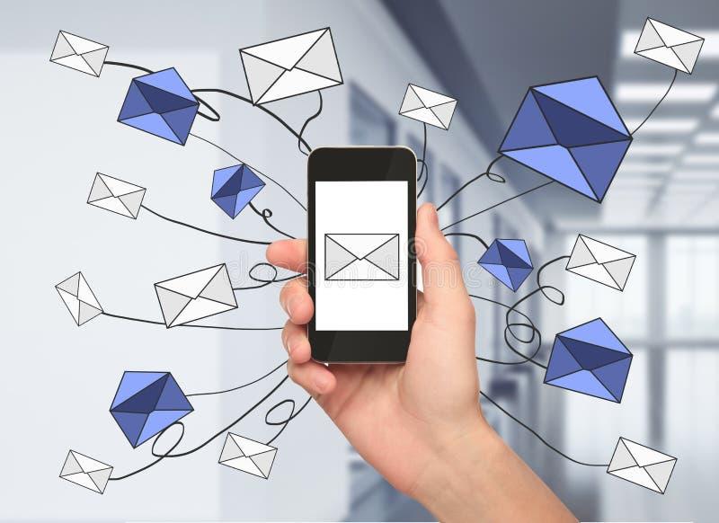 E-mail marketing concept stock illustration