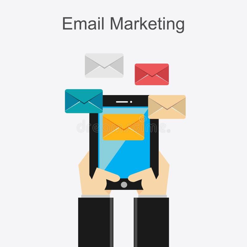 E-mail marketing conceptenillustratie royalty-vrije illustratie