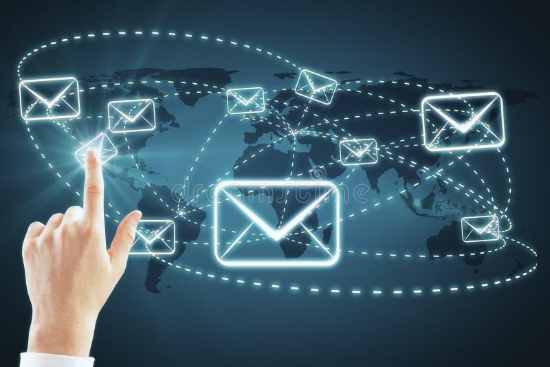 E-mail marketing en bulletinconcept royalty-vrije illustratie