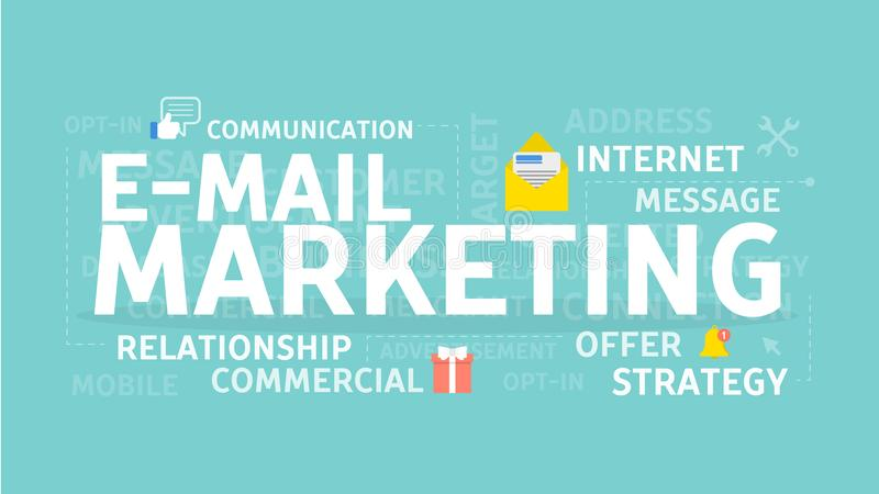 E-Mail-Marketing-Konzept lizenzfreie abbildung