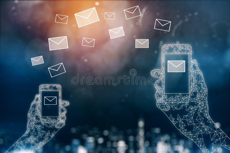 E-Mail-Marketing-Konzept stock abbildung