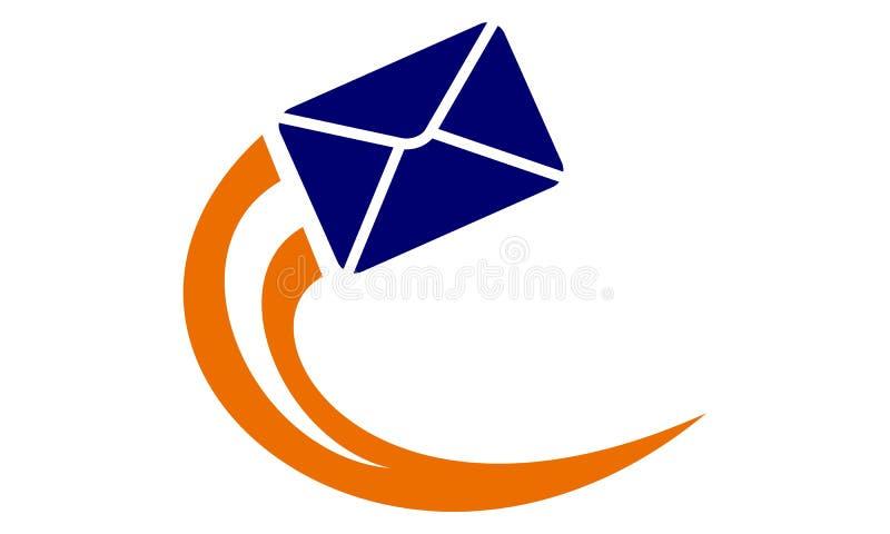 E-mail marketing malplaatje royalty-vrije illustratie