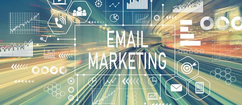 E-Mail-Marketing mit abstrakter Hochgeschwindigkeitstechnologie vektor abbildung