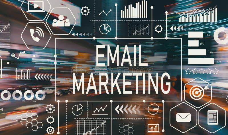 E-Mail-Marketing mit Bewegung unscharfem Verkehr stock abbildung