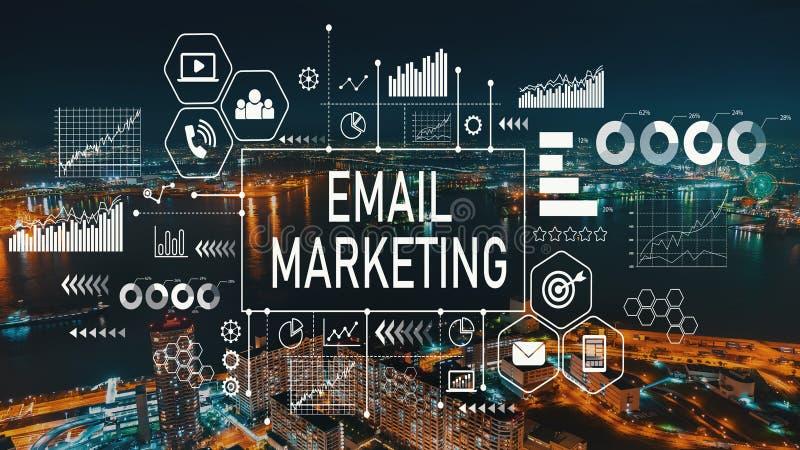 E-Mail-Marketing mit Osaka-Stadt in Japan stock abbildung