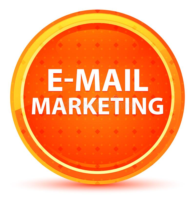 E-Mail-Marketing-natürlicher orange runder Knopf stock abbildung