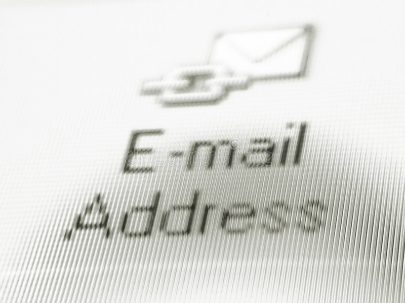 E-mail me stock foto