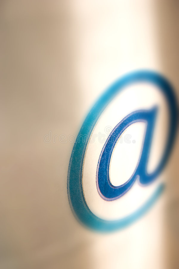 E-mail mededeling - @ royalty-vrije stock afbeelding