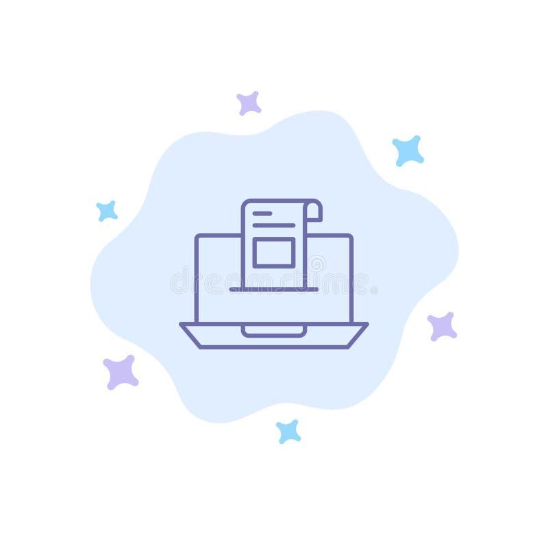 E-mail, Mededeling, E-mail, Envelop, Brief, Post, Bericht Blauw Pictogram op Abstracte Wolkenachtergrond stock illustratie