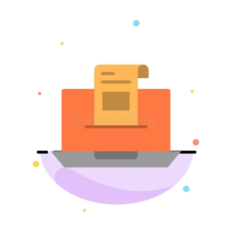 E-mail, Mededeling, E-mail, Envelop, Brief, Post, het Pictogrammalplaatje van de Bericht Abstract Vlak Kleur stock illustratie