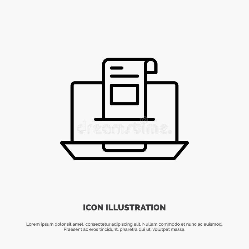 E-mail, Mededeling, E-mail, Envelop, Brief, Post, het Pictogramvector van de Berichtlijn vector illustratie