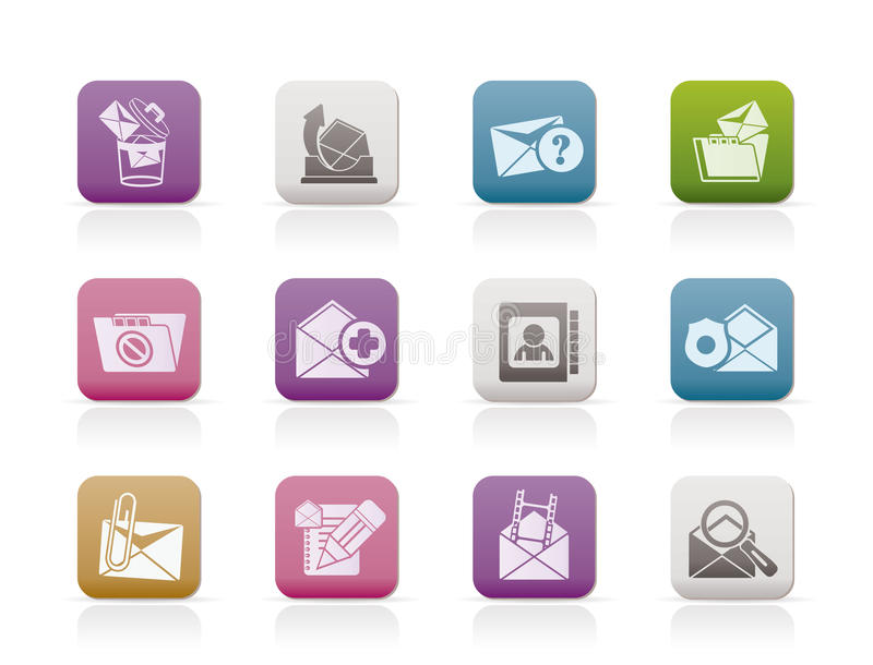 Download E-mail And Message Icons Stock Photography - Image: 17368952