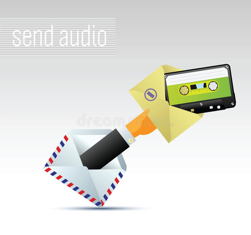 E-mail With Music Royalty Free Stock Image
