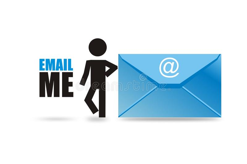 E-mail naar verzend me stock illustratie