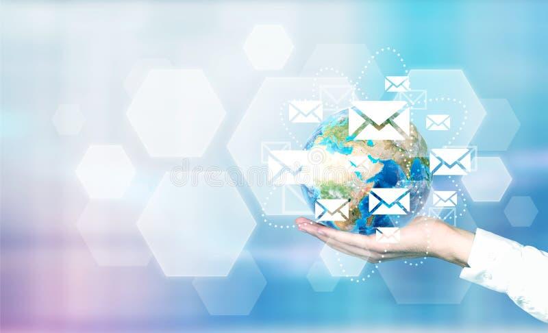 E-Mail-Netz um Kugel vektor abbildung