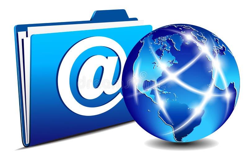 E-mail omslag en de communicatie Wereld van Internet royalty-vrije illustratie