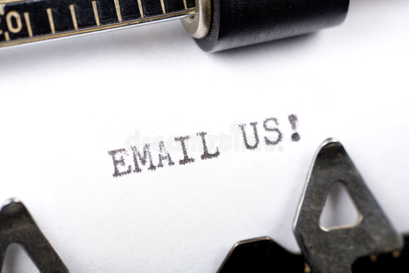 E-mail ons stock afbeeldingen