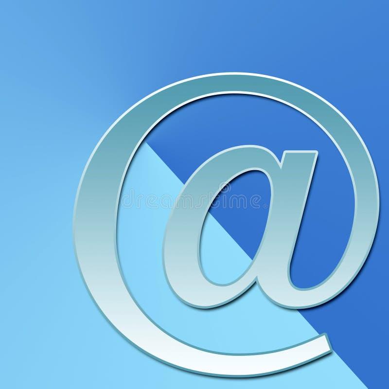 E-mail op blauw stock illustratie