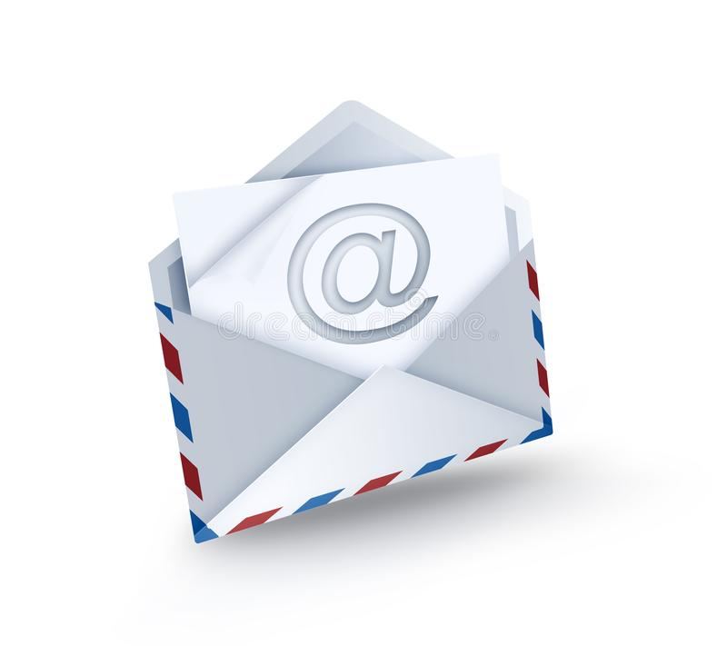 E-mail. Open envelope with e-mail symbol vector illustration