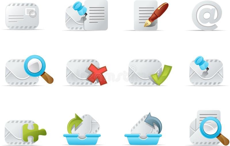 E-mail pictogram - Emailo reeks 3 royalty-vrije illustratie