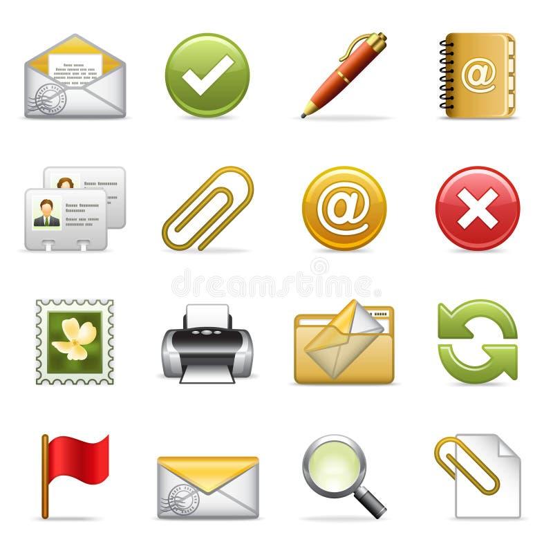 E-mail pictogrammen. vector illustratie