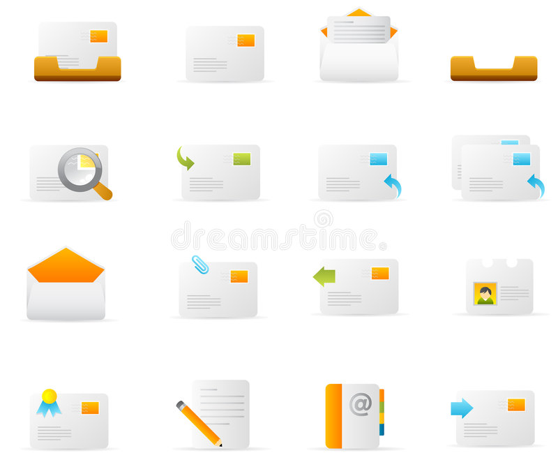 E-mail pictogrammen stock illustratie
