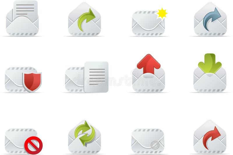 E-mail Pictogrammen - Emailo reeks 1 royalty-vrije illustratie