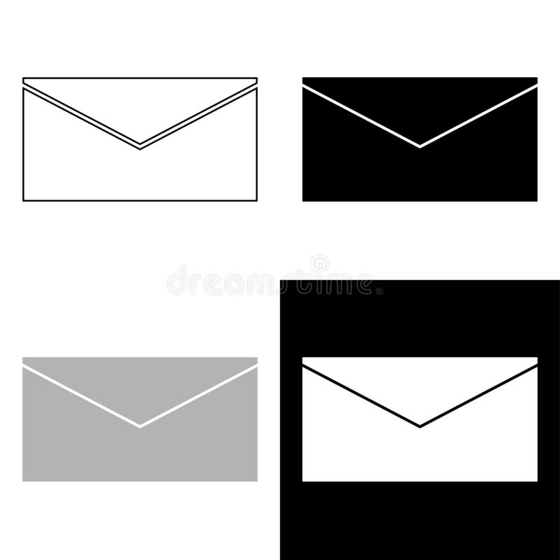 E-mail set vector icon isolated on white background vector illustration
