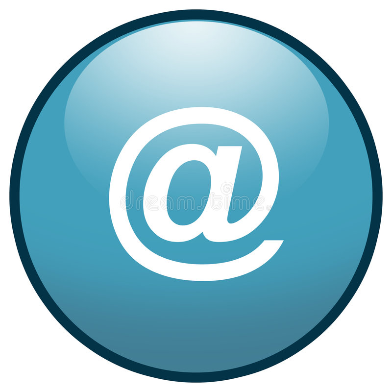 E-mail sign Button Icon (Blue) vector illustration