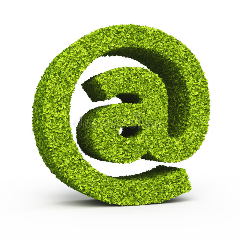 E-mail sign leaf formation stock illustration