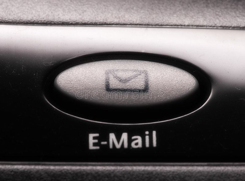 E-mail sleutel stock fotografie