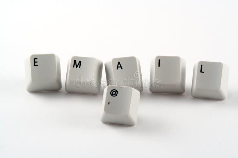 E-mail Sleutels stock foto