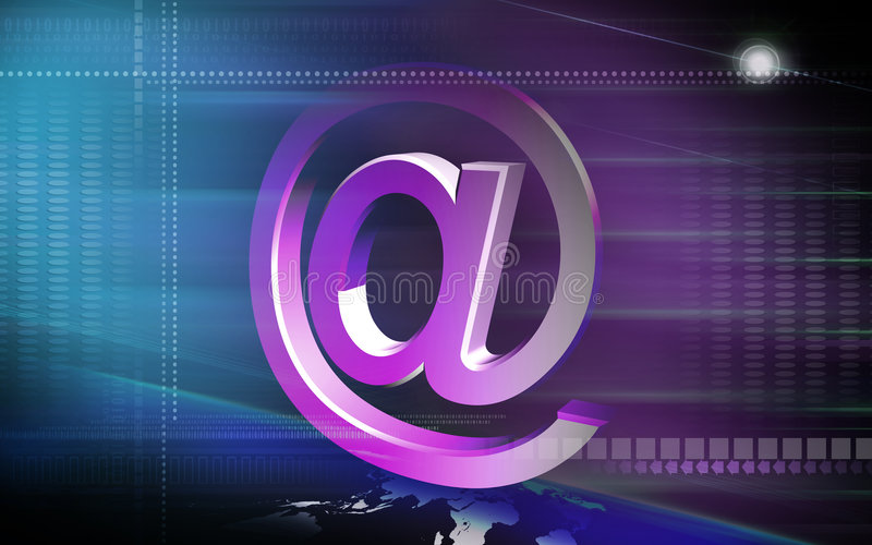 E-mail symbol stock illustration