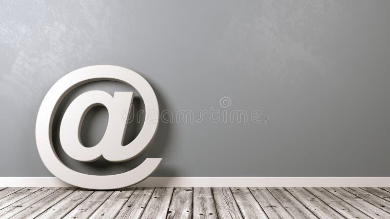 E-Mail-Symbol mit Copyspace stock abbildung