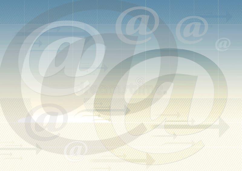 e - mail symbol tło royalty ilustracja