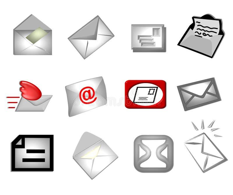 E-mail symbolen stock illustratie