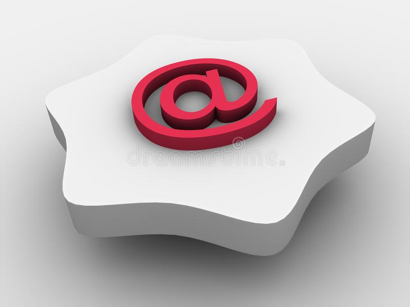 E-mailsymbool royalty-vrije stock afbeelding