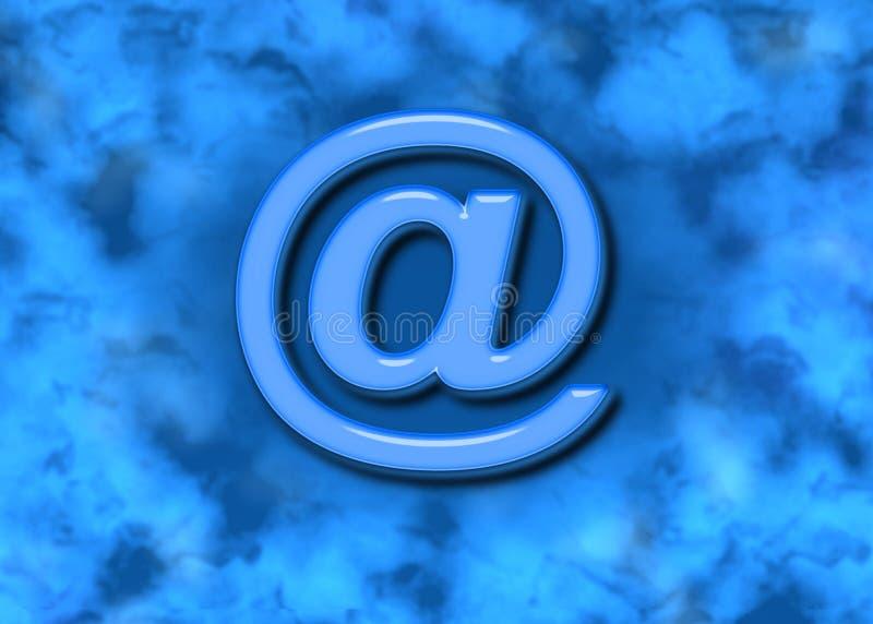 e - mail tła symbolu niebieska sieci ilustracja wektor